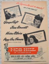 Nob Hill (1945) - Joan Bennett | Vintage Trade Ad